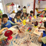Inclusive art sessions draw kids together