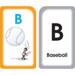 B for Baseball Alphabet Flash Cards Product Image - AutismSTEP