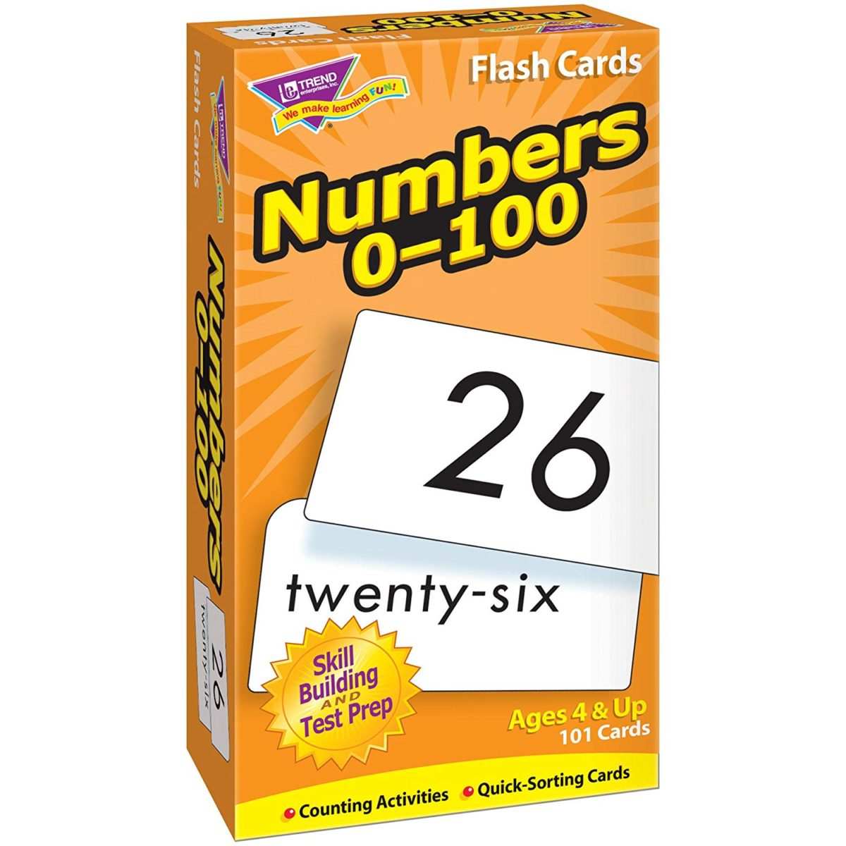 Numbers 0 - 100 Flashcards