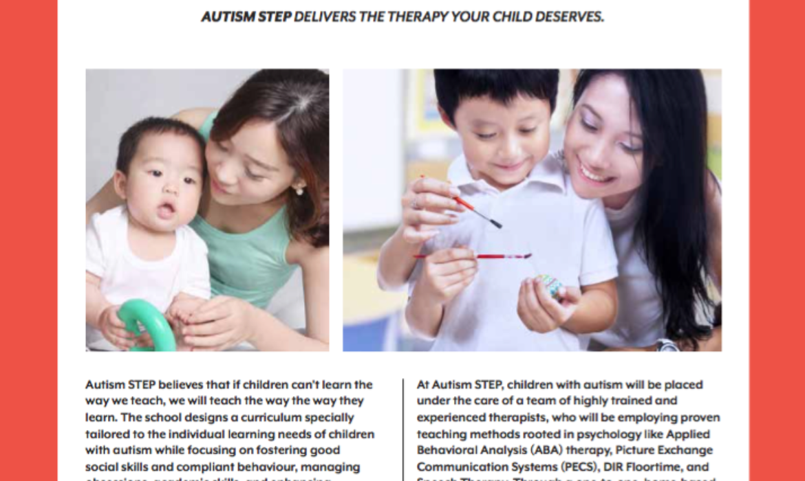 Autism STEP won the Best in Early Intervention Programme for Children with Autism for the 2nd time!
