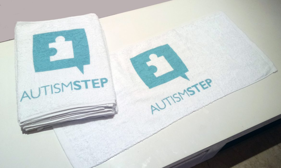 Preparation for Charity Run: Autism STEP Towel