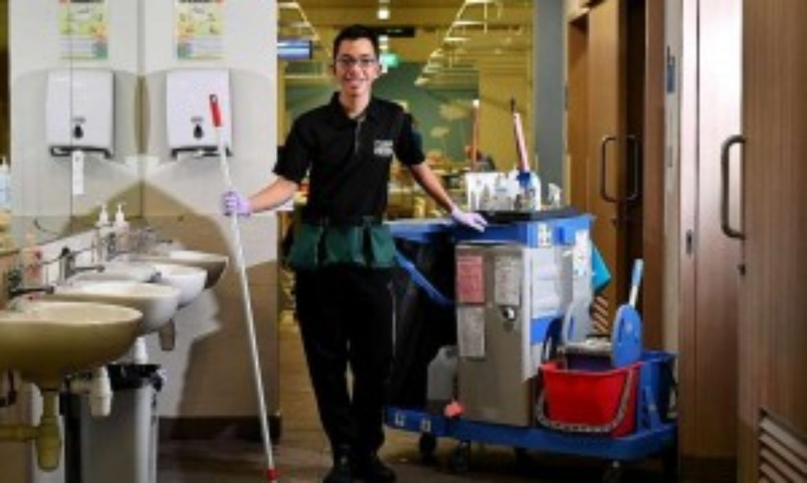Cleaner with autism makes mum proud