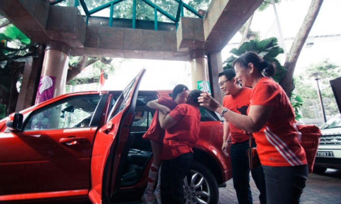Kids with special needs ride in style to the Padang