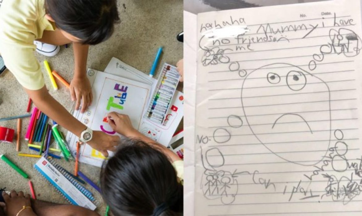 8-year-old child with autism draws heartbreaking picture of what mainstream S'pore school is like