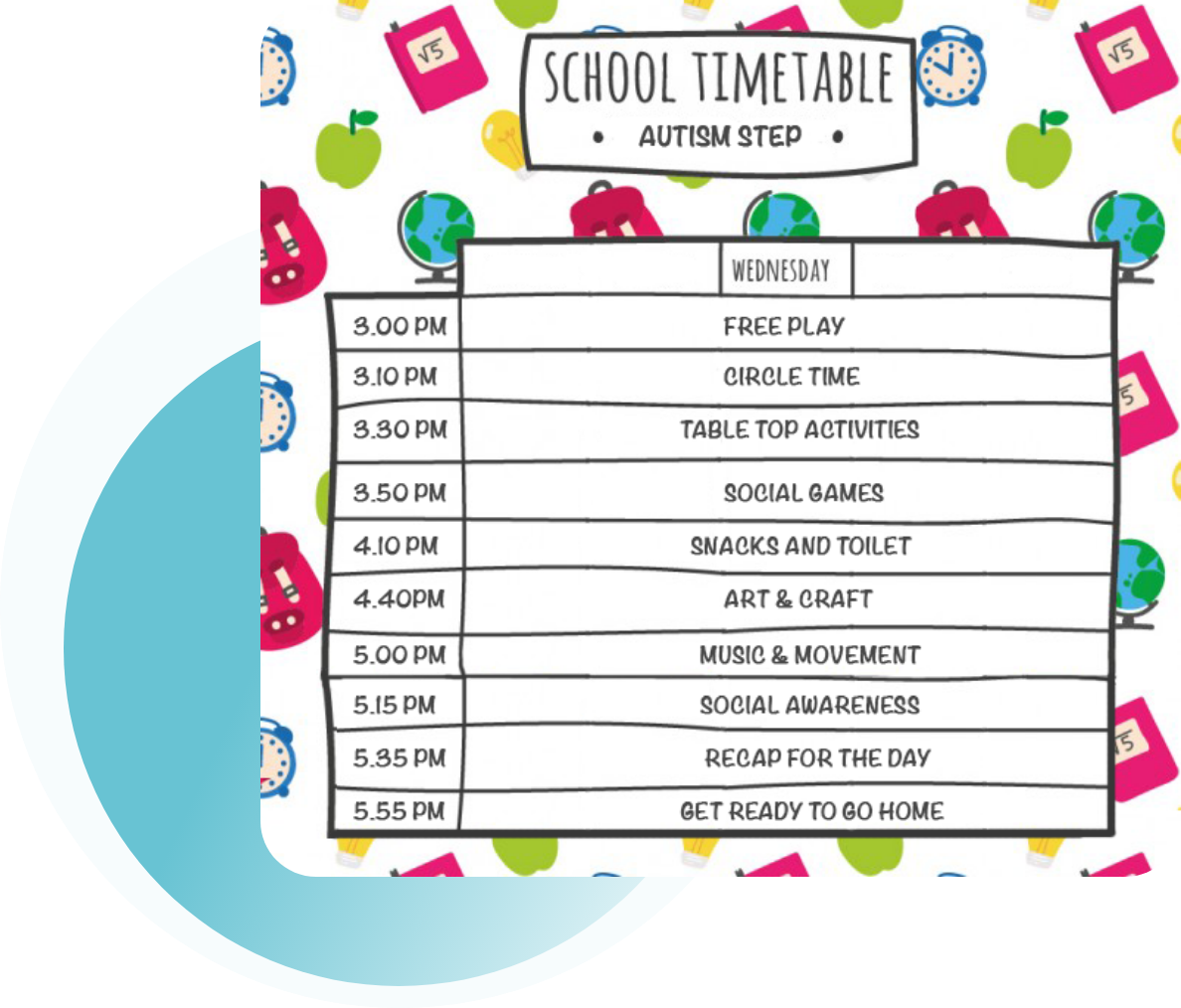 Class Sizes and Schedules - School & Social Readiness Programme - AustismSTEP